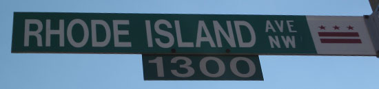 rhode island ave street sign